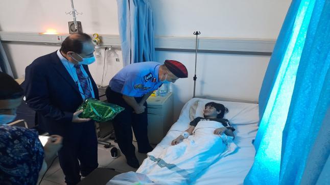 في أول أيام عيد الأضحى : العلاونة مدير شرطة الزرقاء يتفقد مستشفى الزرقاء الحكومي