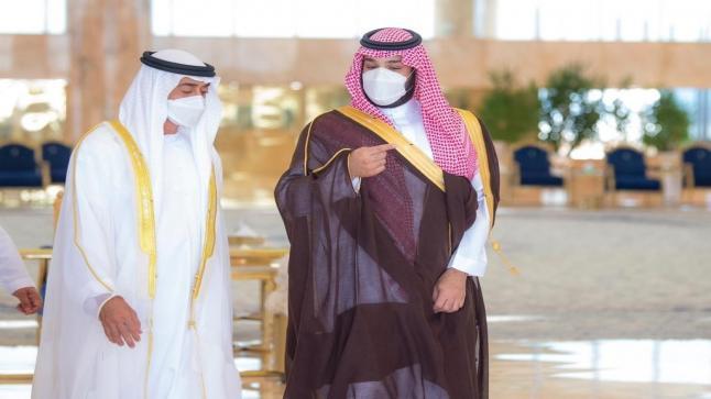 ولي العهد السعودي يستقبل ولي عهد أبوظبي – بالصور