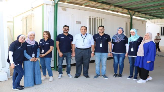 الدكتور رضوان يقدم الشكر والتقدير للزملاء في منظمة الصحة العالمية ولادارة مستشفى الاستقلال