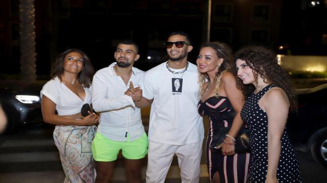بالصور- النجوم يشاركون ميشال فاضل افتتاح Le Rouge في مصر