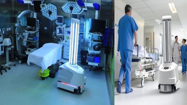 المستشفى التخصصي يستخدم أول روبوت آلي للتعقيم في الأردن UVD-ROBOT 360