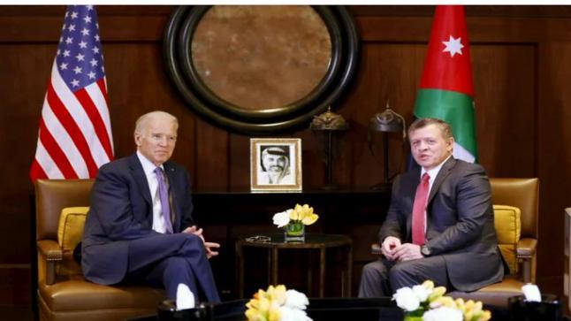 بالصور والفيديو : جلالة الملك عبدالله يلتقي الرئيس الأمريكي جو بايدن.