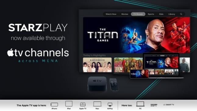 شركة STARZPLAY تطلق خدماتها عبر قنوات Apple TV في منطقة الشرق الأوسط وشمال أفريقيا