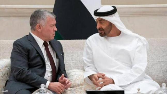 الملك يتبادل التهاني مع ولي عهد أبو ظبي