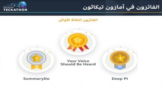 جامعة البترا تفوز بالمركز الأول في مسابقة شركة أمازن لطلبة الجامعات الأردنية