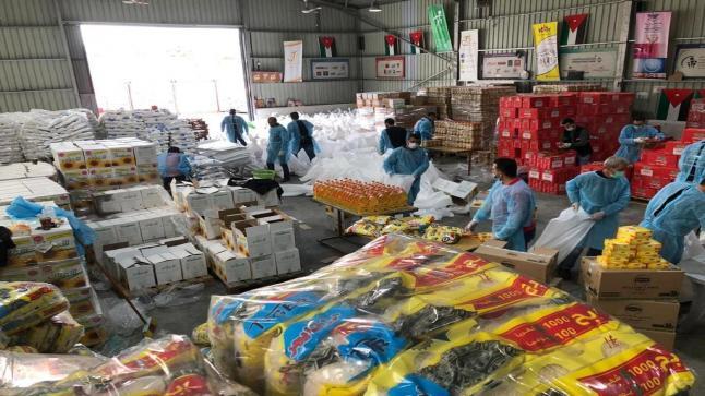 """""""الخيرية الهاشمية"""" توزع ١٠,٧٤٨ طردا غذائيا على الأسر المحتاجة"""